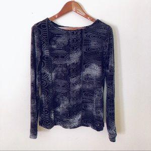 Chico's size 0 black velvet top blouse